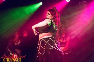 An LVC Bellydance Student Onstage